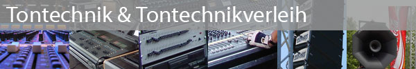 Tontechnik & Tontechnikverleih